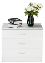 Boukra 4 Drawers Nightstand Ebern Designs Color: White