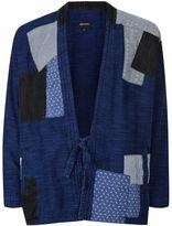 Topman Waven Bue Woven Patchwork Kimono*