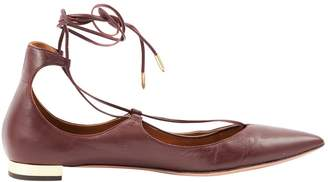 Aquazzura Purple Leather Flats
