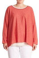Eileen Fisher, Plus Size Plus Alpaca Blend Tunic