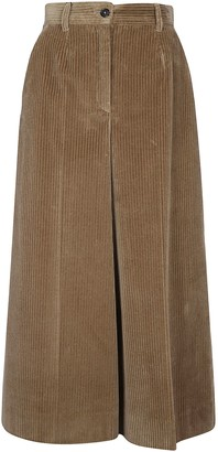 Dolce & Gabbana Wide Flare Leg Ribbed Trousers