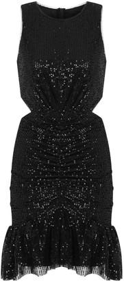 Kith&Kin Geometric Form sequin Waist Cut Out Dress