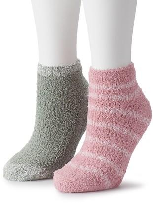 Dr. Scholl's Women's 2-Pair Soothing Spa Low-Cut Slipper Socks