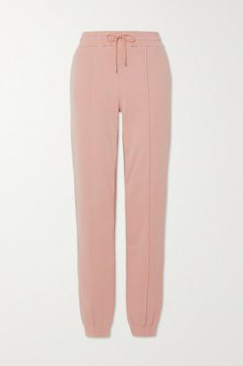 Ninety Percent + Net Sustain Organic Cotton-jersey Track Pants - Pink