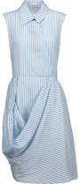 J.W.Anderson Draped Striped Silk-Satin Mini Dress