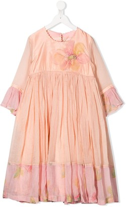 Pero Kids Floral Tiered Dress