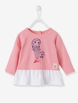 Vertbaudet Baby Girls T-shirt With Frill