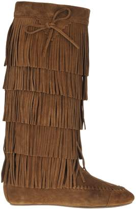 Saint Laurent Fringed Knee-length Boots