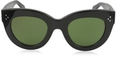 Celine CATY CL 41050/S 8071E Black Acetate Cat Eye Women's Sunglasses