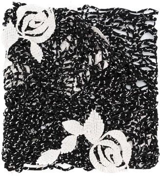 Giorgio Armani Pre Owned Woven Floral Scarf