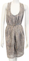 Belted Tank Dress In Snake Print