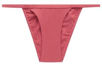 Matteau - The Petite Low-rise Bikini Briefs - Womens - Dark Pink