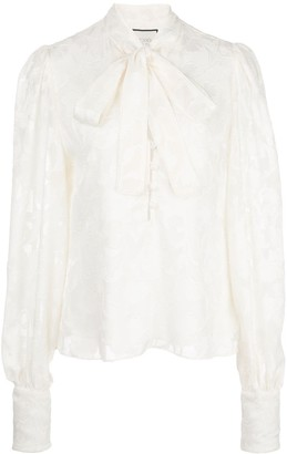 Alexis Pussybow Long-Sleeve Blouse