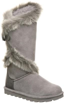 BearPaw Sheilah Suede Tall Faux Fur Boot