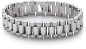 Kenneth Cole Reaction Men Silver-Tone Watchband Bracelet