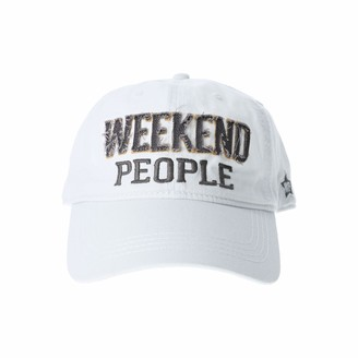 Pavilion Gift Company Weekend People-White Adjustable Snapback Baseball Hat