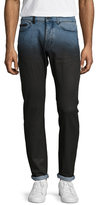 Marcelo Burlon County of Milan Cotton Coated Slim Jeans