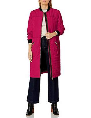 Armani Exchange A|X Women's Knee Length Coat Front and Zipper Pockets