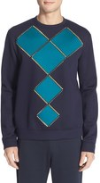 Versace Men's Geometric Studded Sweatshirt