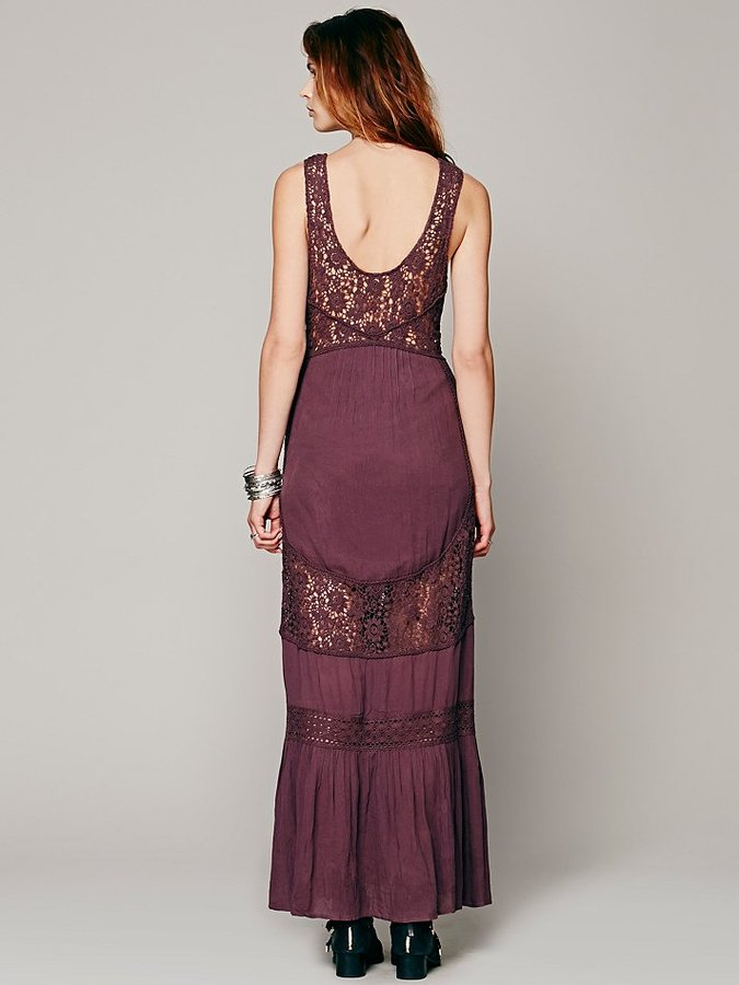 Free People Daydream Lace Pieced Maxi