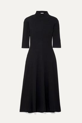 Rosetta Getty Stretch-cotton Jersey Turtleneck Dress - Black