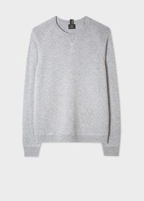 Men's Grey Merino Raglan Sleeve Sweater