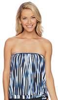 Athena Women's Blue Horizon Blouson Bandini Tankini Top