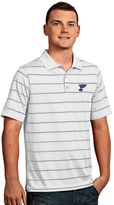 Antigua St. Louis Blues Deluxe Striped Desert Dry Xtra-Lite Performance Polo - Men