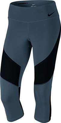 Nike W Nk PWR Lgndry Cpri Mid Rise Tights, Women, Womens, 833736-464, Blue (Squadron Blue/Black), M