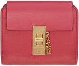 Chloé Pink Square Drew Wallet