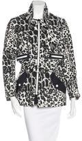 Sandro Leopard Print Parka Jacket