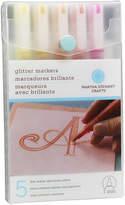 Martha Stewart Glitter Markers 4/pkg-warm Spectrum