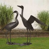 Sunjoy Crane Outdoor Statue 2-piece Set