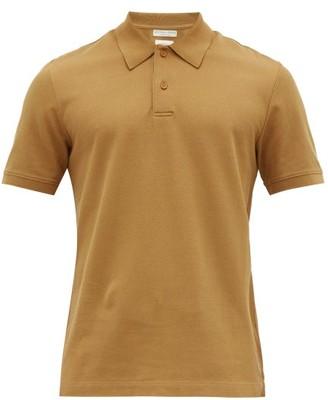 Bottega Veneta Relaxed-fit Cotton-pique Polo Shirt - Mens - Camel