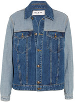 Paul & Joe Patchwork Denim Jacket - Dark denim