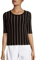 Saks Fifth Avenue BLACK Square Jacquard-Knit Top