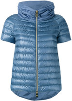 Herno short-sleeved puffer jacket - women - Feather Down/Polyester/Polyimide - 46