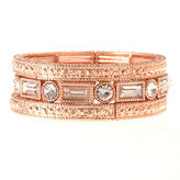 Natasha Accessories Womens Clear Stretch Bracelet