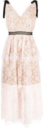 Self-Portrait Rose Lace Midi Dress