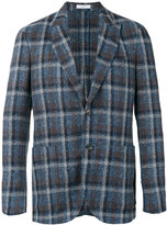 Boglioli checked blazer - men - Cotton/Linen/Flax/Polyamide/Cupro - 48