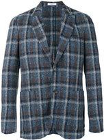 Boglioli checked blazer - men - Cotton/Linen/Flax/Polyamide/Cupro - 50
