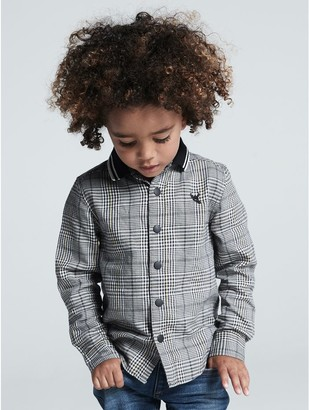 M&Co Ribbed collar check shirt (9mths-5yrs)