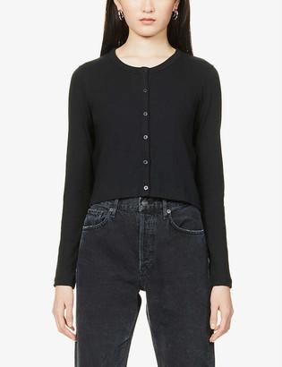 Ninety Percent Pointelle organic cotton-knit cardigan