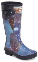 Hunter Girl's Space Camo Waterproof Rain Boot