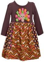 Bonnie Jean Girls 7-16 Turkey Applique Dress