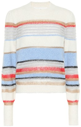 Veronica Beard Meredith striped cotton-blend sweater