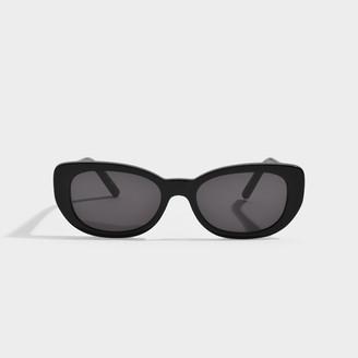 Saint Laurent Sl 316 Betty Sunglasses In Black Acetate With Blac