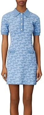 Maje Roetic Jacquard Knit Dress