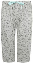 Yours Clothing YoursClothing Plus Size Womens Sleeping Cat Print Cropped Pyjama Bottoms