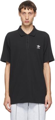 adidas Black Trefoil Essentials Polo